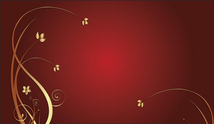 Carte De Visite Gratuite Les Fleurs En Or